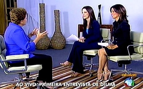 primeira entrevista dilma presidente 2011 record