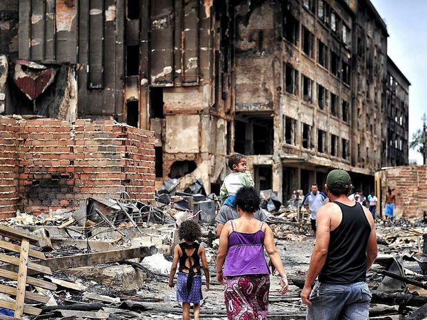 Favela Moinho Incêndio