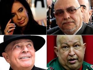 Cristina, Lugo, Lula e Chávez