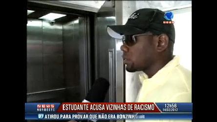 racismo vítima estudante negro elevador