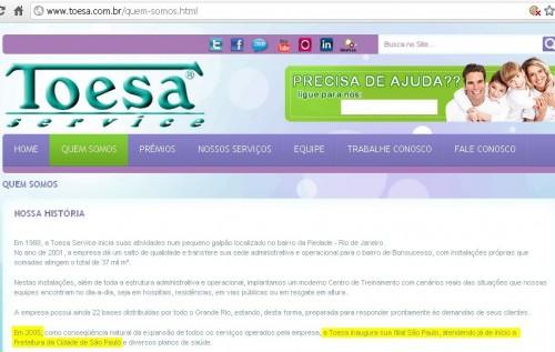 Toesa José Serra corrupção