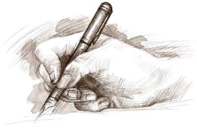 caneta papel