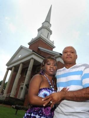 casal igreja negro