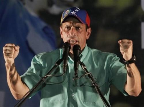 capriles venezuela chavez eleições