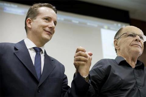 Líderes católicos dizem que Russomanno (esq), candidato de Edir Macedo (dir), representa um perigo para a democracia. Foto: divulgação