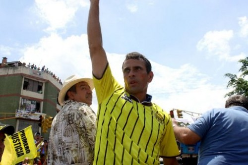 capriles venezuela chávez eleições