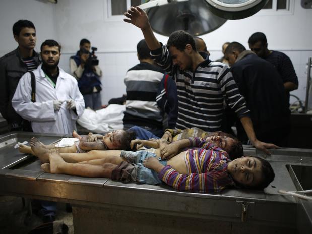 crianças israel gaza