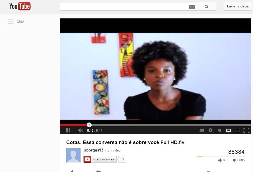 cotas racismo youtube