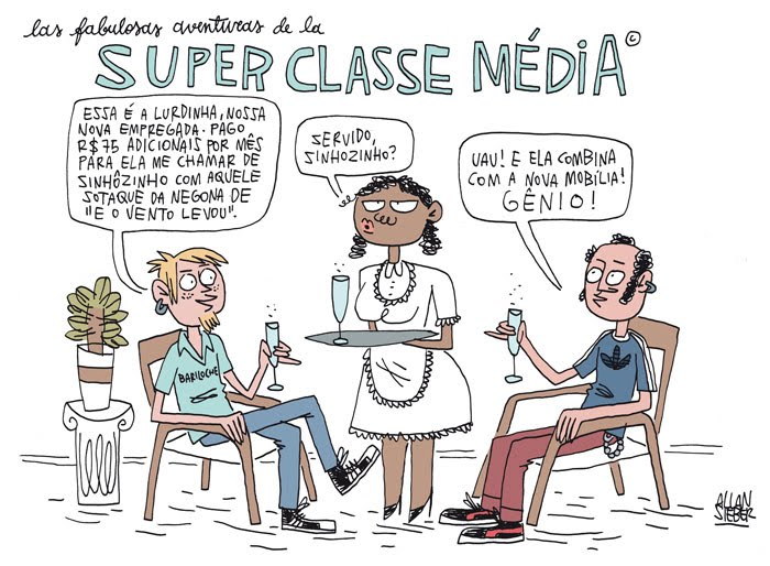 classe médai brasil caricatura