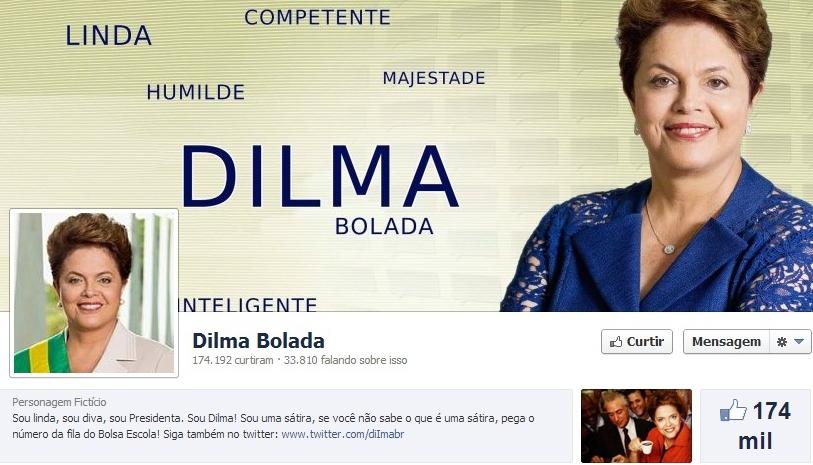 dilma bolada facebook redes sociais