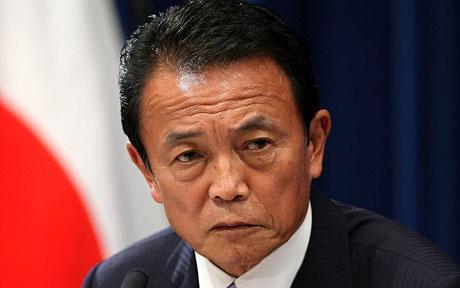 taro aso morte idosos japão
