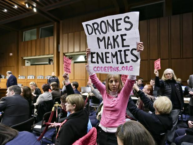 protesto drones senado eua