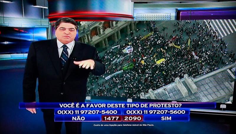 datena manipula protestos passe livre