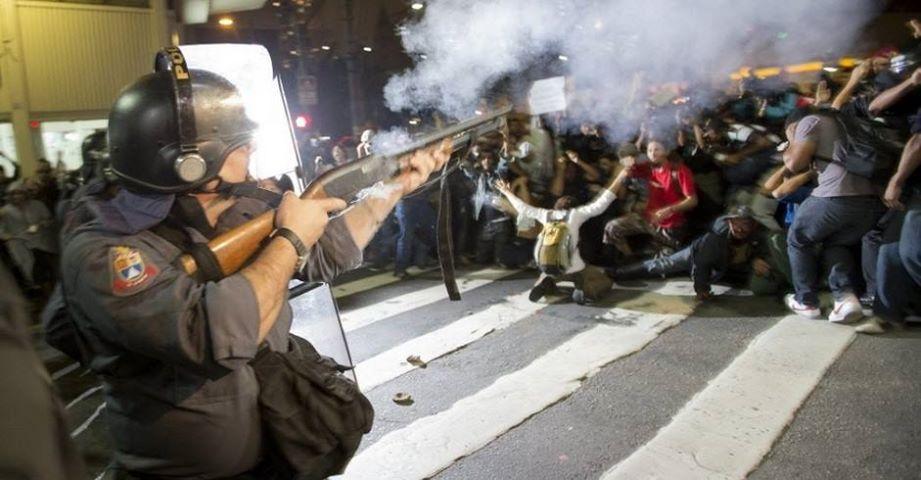 polícia miliar pm protestos democracia