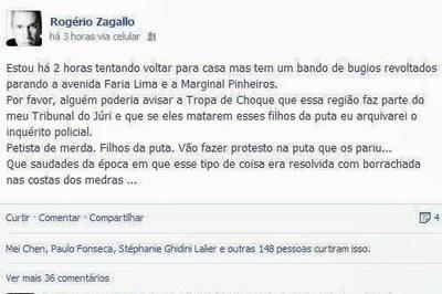 rogério zagallo promotor facebook