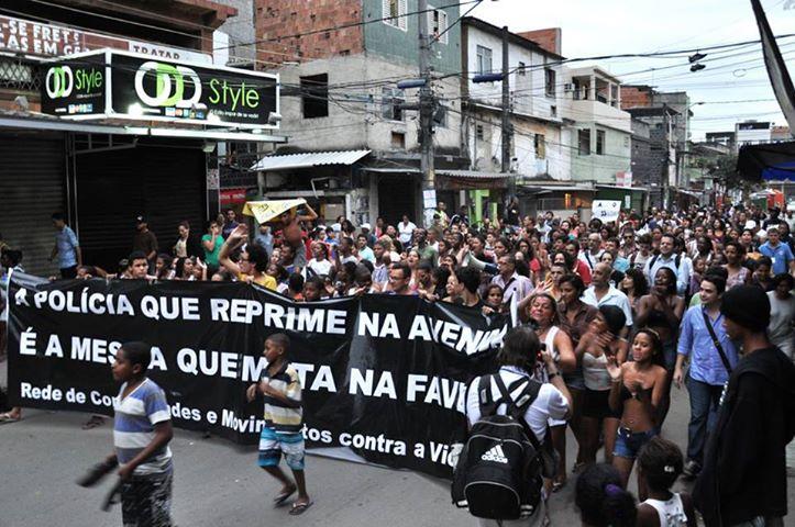 protesto favela maré classe média