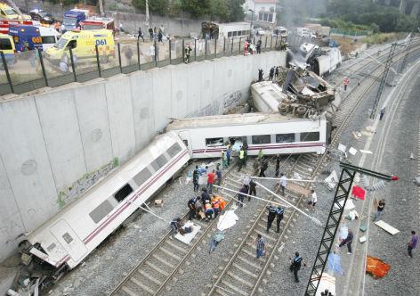 acidente trem espanha