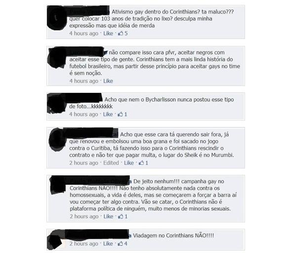 corinthians beijo gay sheik homofobia