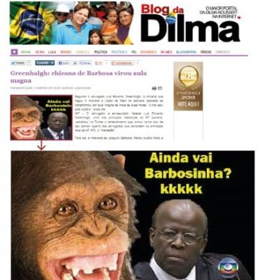 racismo joaquim barbosa blog dilma