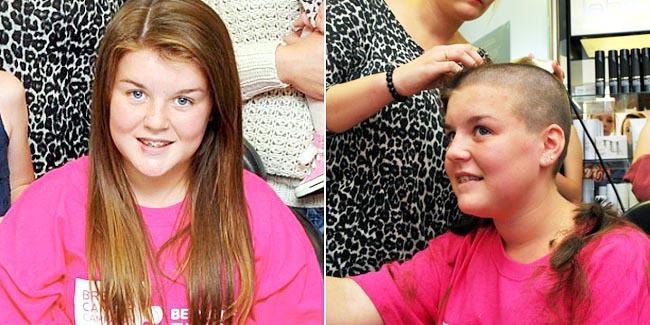 menina doa cabelo câncer