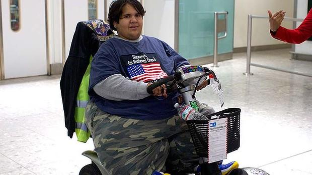 Kevin Chenais jovem gordo