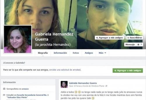 menina suicídio facebook