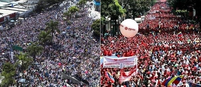 protestos venezuela maduro chávez