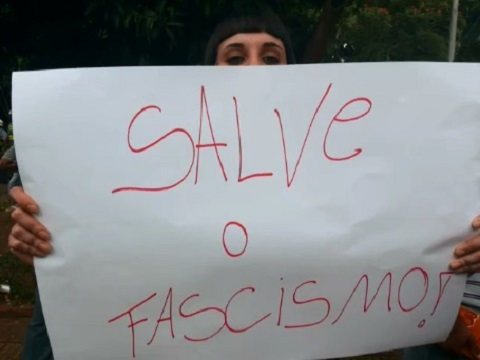fascismo marcha da família cartaz