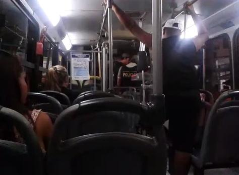 agressão pm pernambuco ônibus