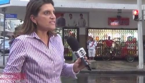 repórter da globo ataque de raiva