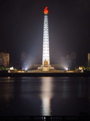 Torre Juche coreia do norte