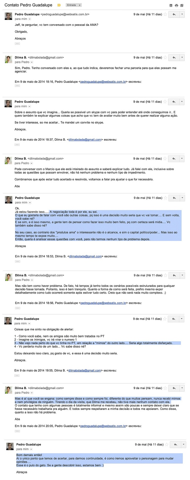 dilma bolada email psdb