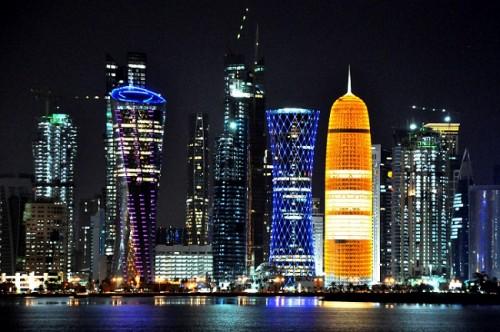 doha qatar noite