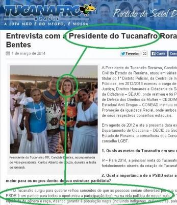 presidente tucanafro loira