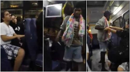 catador latinhas humilhado motorista ônibus
