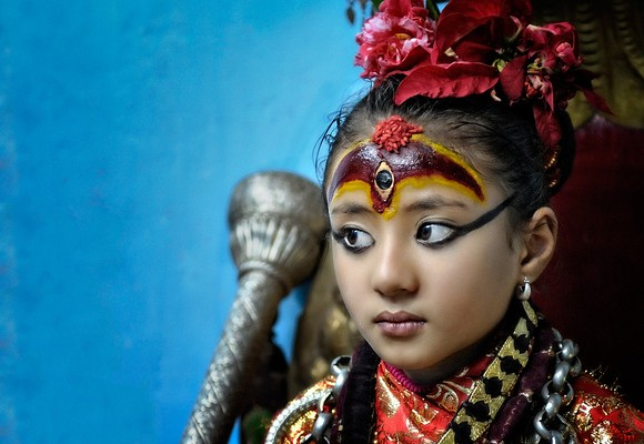 menina deusa nepal