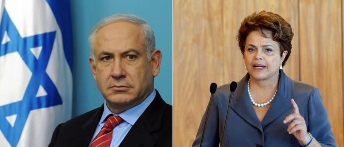 brasil israel gaza dilma benjamin palestina