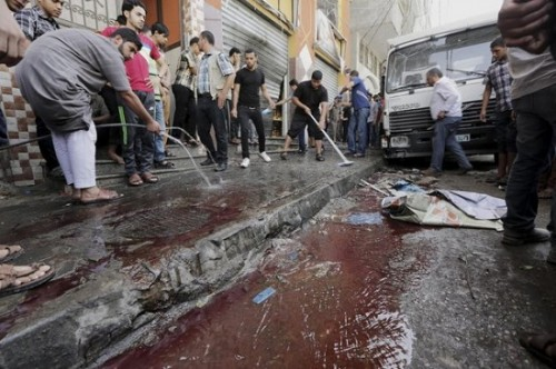gaza israel banho de sangue