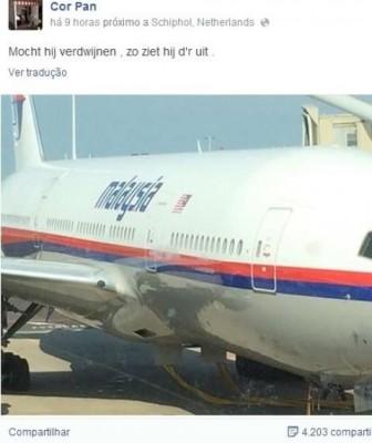 foto holandês avião malaysia airlines