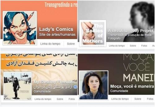 mulheres facebook páginas