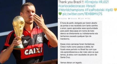 copa podolski carta brasil