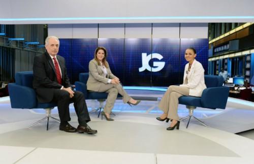 Marina Silva foi a entrevistada desta segunda-feira no Jornal da Globo (divulgação)