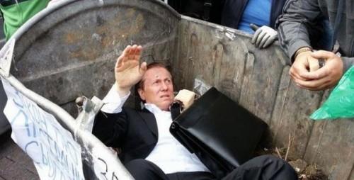 político ucrânia lixo