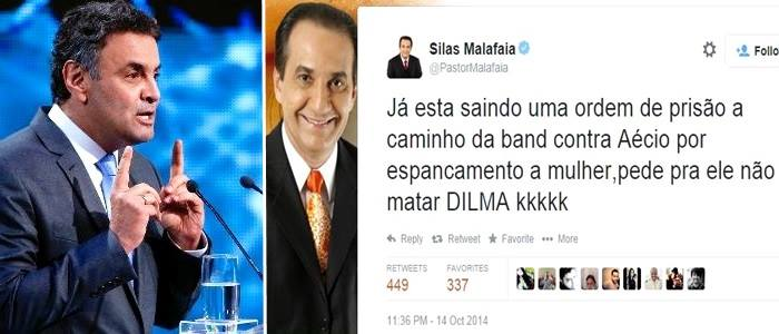 aécio neves silas malafaia