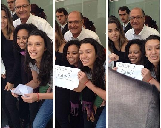 alckmin água estudantes