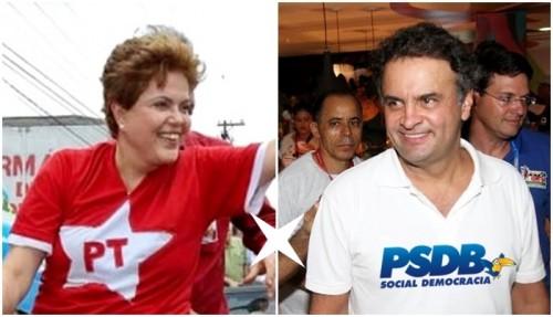Dilma rousseff PT Aecio Neves PSDB