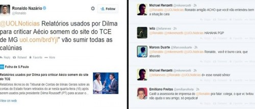 ronaldo aécio twitter