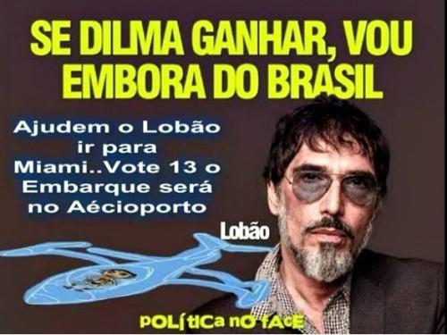 lobão dilma sair do brasil