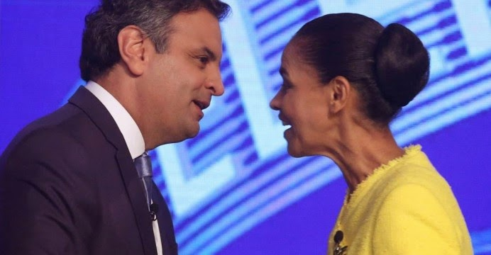 Marina Silva apoia Aecio Neves