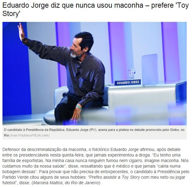 revista veja toy story eduardo jorge